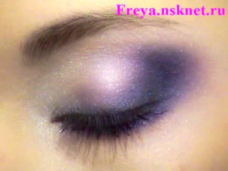 макияж глаз Аметистовые переливы
