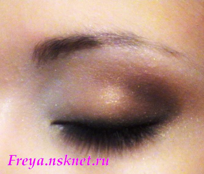 макияж глаз Карамель