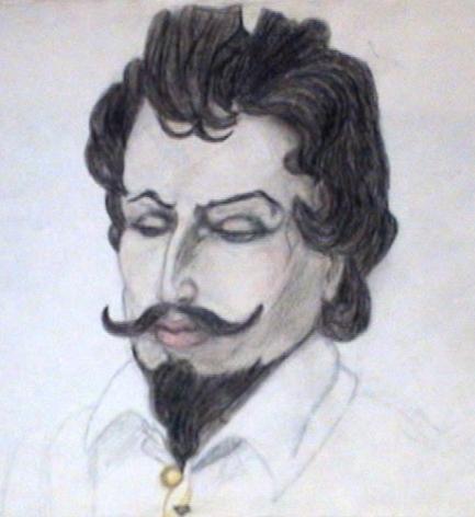 Атос, художник Анна Журавлёва, 1987, карандашный рисунок