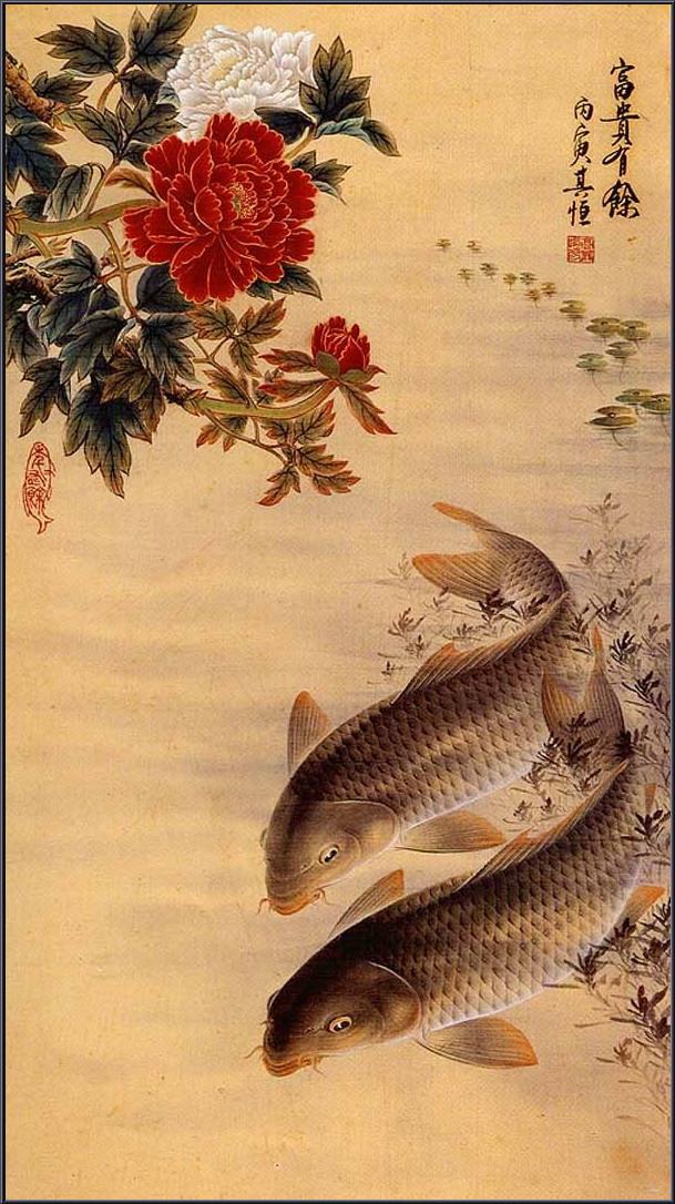 Рыбы - излюбленные персонажи Гао Цихэн (高其恒)