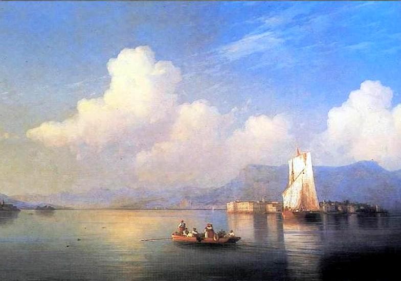 Айвазовский картина маслом - Итальянский пейзаж