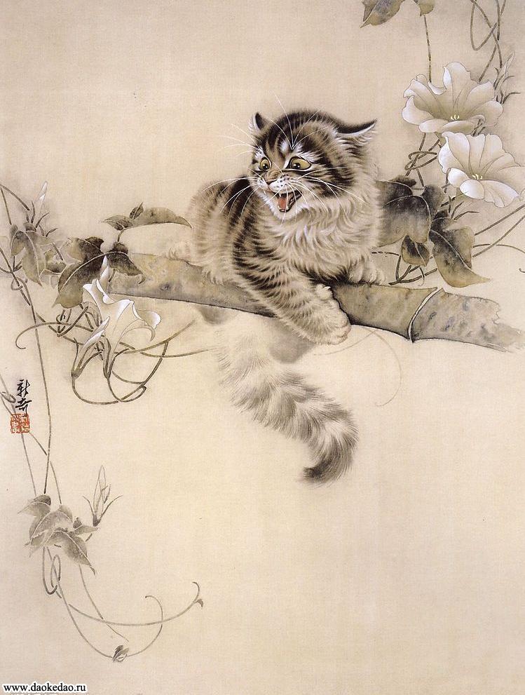 Многие работы Сюй Синьци (徐新奇) посвящены кошкам