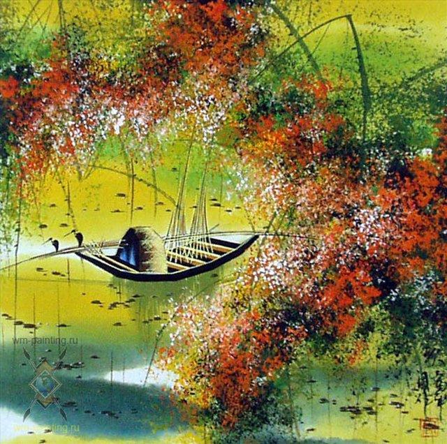 Осенний пейзаж, художник Тиан Вы